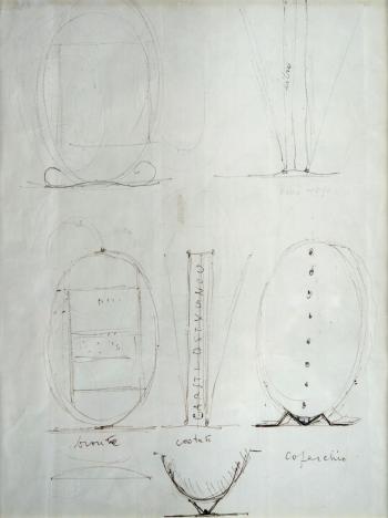 Lucio Fontana-Progetto per multiplo-