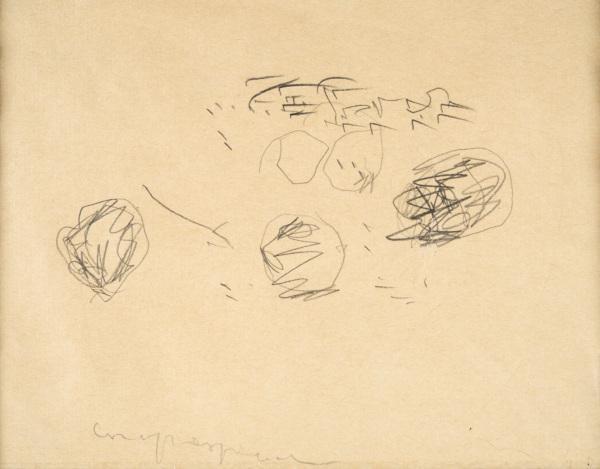 Lucio Fontana-Studio per Concetto Spaziale-1946