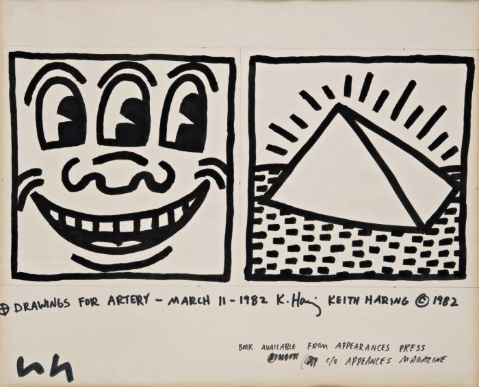 Keith Haring-Keith Haring - Drawings for Artery-1982