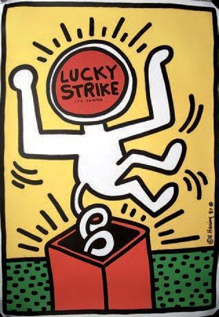 Keith Haring-Keith Haring - Lucky Strike It's Toasted-1987