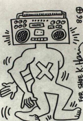 Keith Haring-Keith Haring - Radioman, for Shoe-1986