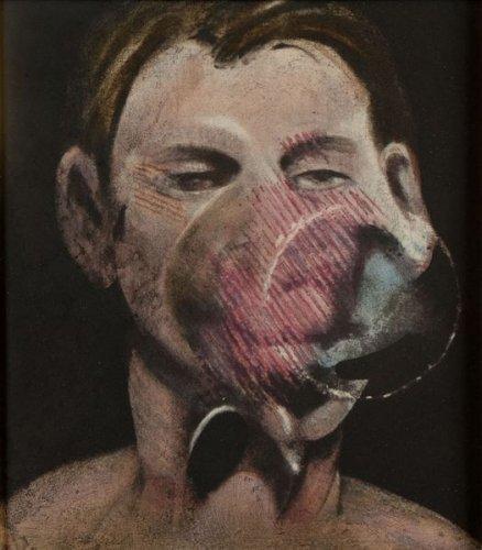 Francis Bacon-Studies for a Portrait of Peter Beard I (panneau central)-1976