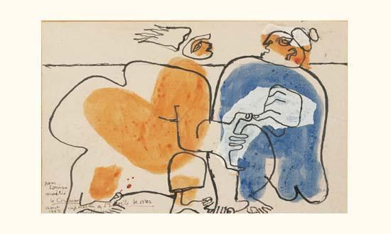 Le Corbusier-Couple en bord de mer-1962