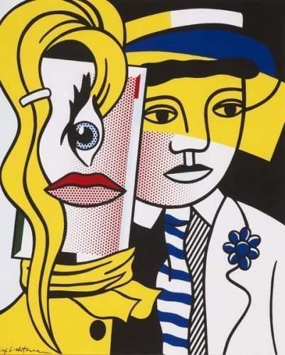 Roy Lichtenstein-Stepping out-1986
