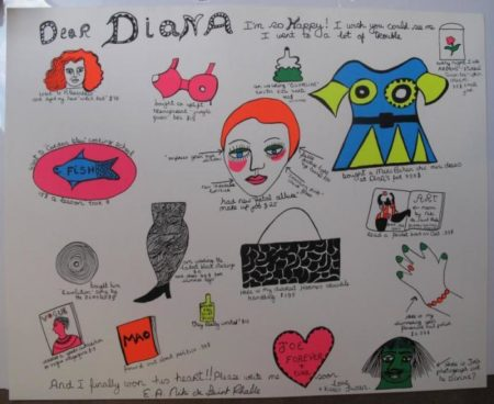 Niki de Saint Phalle-Dear Diana I'm so Happy-1969