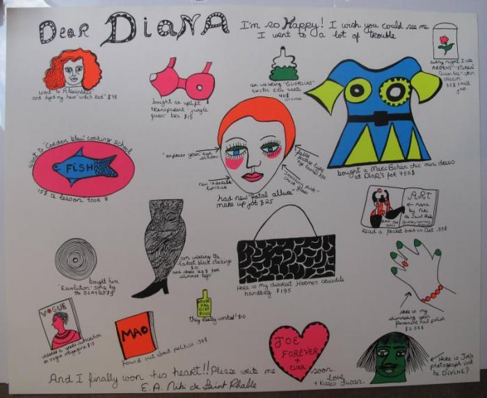 Niki de Saint Phalle-Dear Diana I'm so Happy-1969