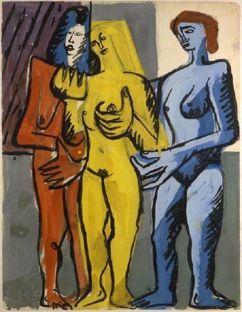 Le Corbusier-Trois nus feminins-1950