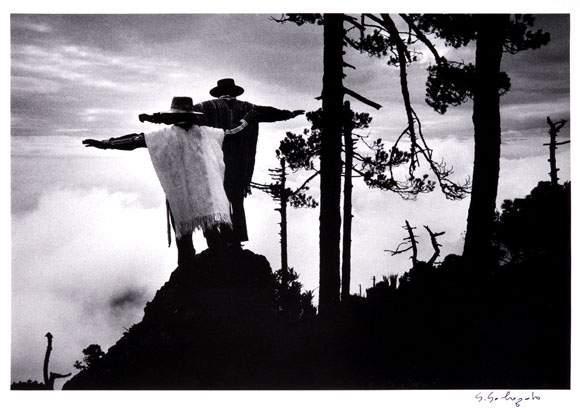 Sebastiao Salgado-Praying to Mixe God, Oaxaca, Mexico-1980