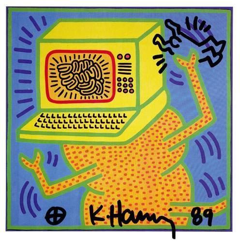 Keith Haring-Keith Haring - Computer Brain-1989