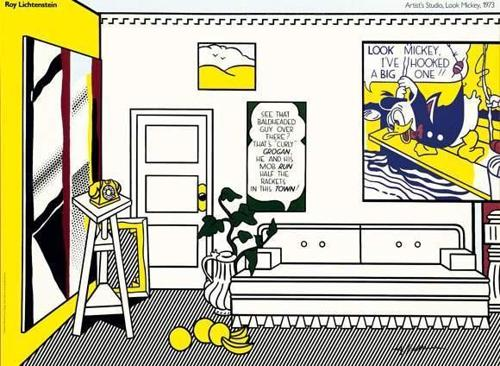Roy Lichtenstein-Artist's studio, Look Mickey-1973