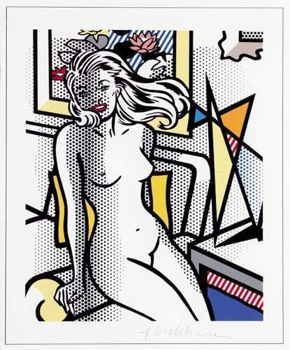 Roy Lichtenstein-Nude with Yellow Pillow-