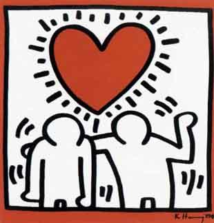 Keith Haring-Keith Haring - Couple and Heart-1989