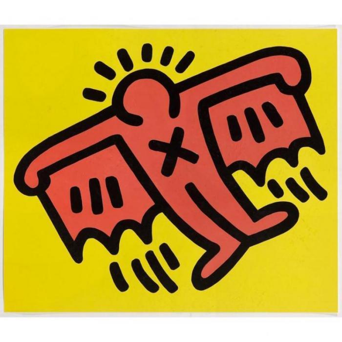 Keith Haring-Keith Haring - Flying Devil (from Icons series)-1990