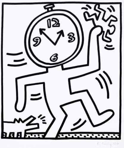Keith Haring-Keith Haring - Time's Running-1983