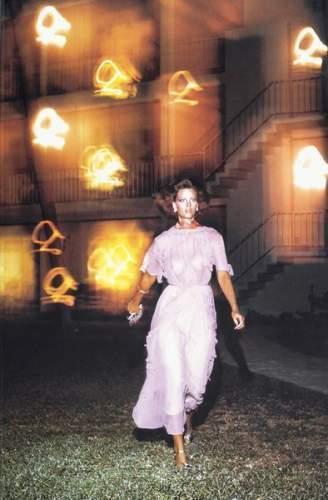 Helmut Newton-Woman in pink Dress-2004