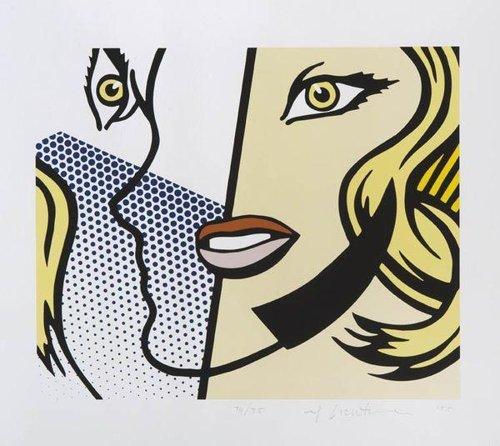Roy Lichtenstein-Untitled Head (Cal Arts Print)-1995