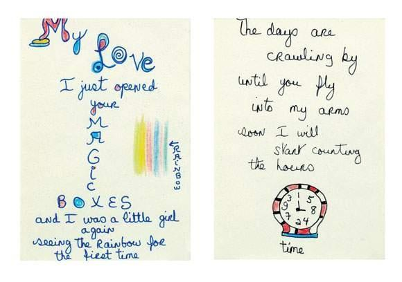 Niki de Saint Phalle-Love Letters (Magic boxes - counting the Hours), Counting the Hours (Diptychon)-1980