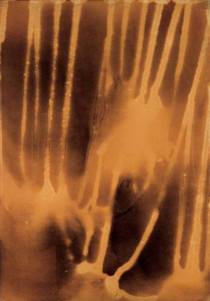 Yves Klein-Carte de Mars par l'eau et le feu-1961