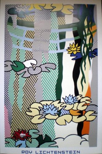 Roy Lichtenstein-Water lily pond with reflections-