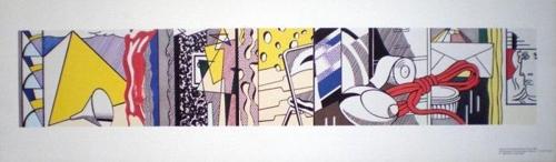 Roy Lichtenstein-Sketch for Greene St mural-1983