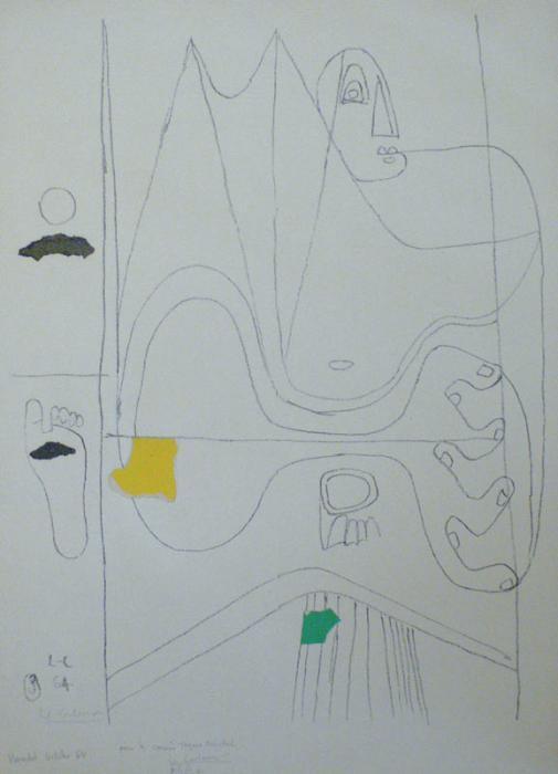 Le Corbusier-Composition aux personnages-1964