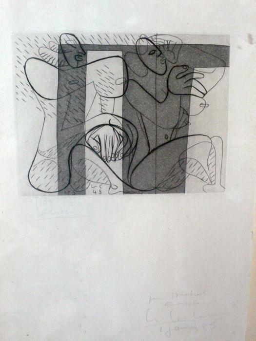 Le Corbusier-Composition au couple-1953