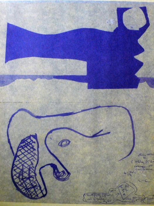 Le Corbusier-Composition-1954