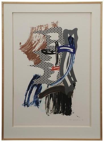 Roy Lichtenstein-Mask (from Brushstroke Figures series-1989