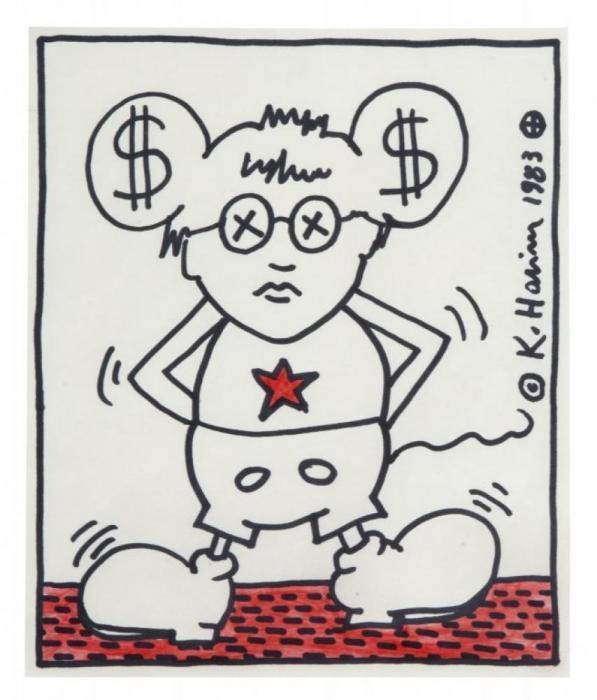 Keith Haring-Keith Haring - Senza titolo [Untitled]-1983