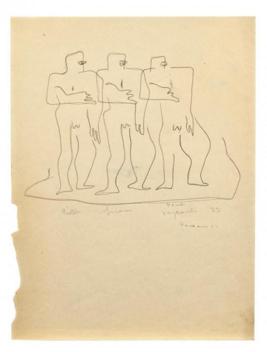Lucio Fontana-Tre uomini-1933