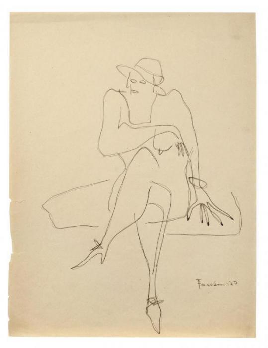 Lucio Fontana-Donna seduta-1935