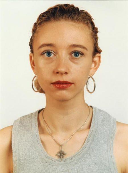 Thomas Ruff-Dalla serie 'Blaue Augen' Blau 11 - C.K./B.E.-1991