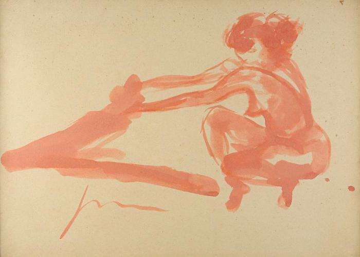 Lucio Fontana-Figura sui talloni-1965