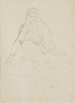 Lucio Fontana-Figura di donna-1949
