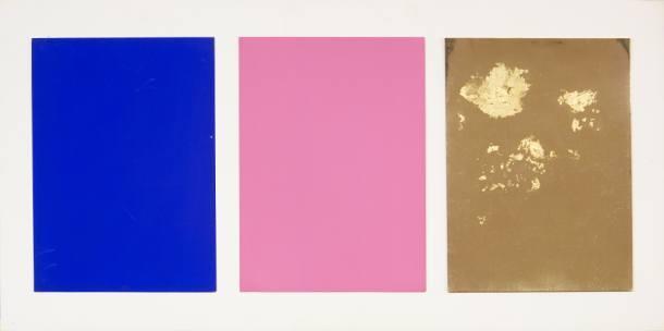 Yves Klein-Monochrome und Feuer (Tryptich)-1961