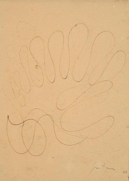 Lucio Fontana-Studio per Ambiente Spaziale-1960