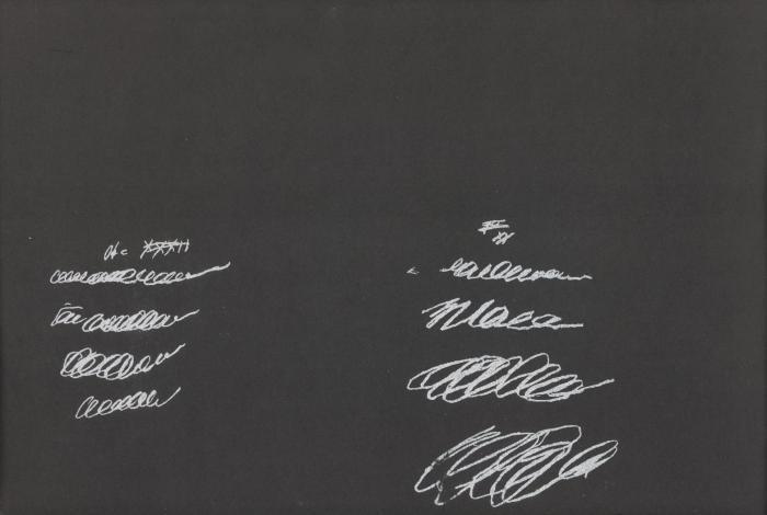 Cy Twombly-8 odi di Orazio - Serie I-1968