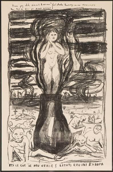 Edvard Munch-Europas Forente Stater III / The United States of Europe III (Woll nr 584)-1916
