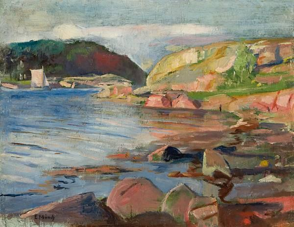 Edvard Munch-Tonsbergfjorden-1887