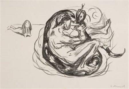 Edvard Munch-Slangen Drepes-1909