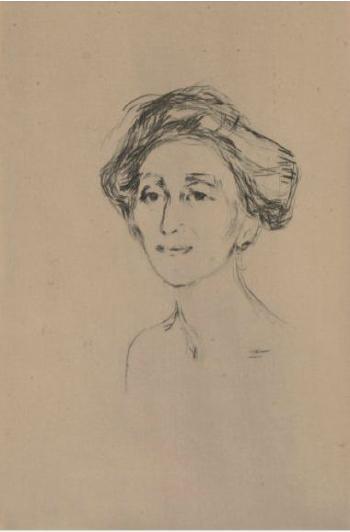 Edvard Munch-Grevinnen / The Countess-1907