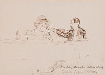 Edvard Munch-Par ved bord-