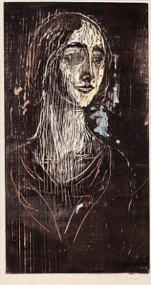 Edvard Munch-Birgitte III (Den gotiske piken)-1930