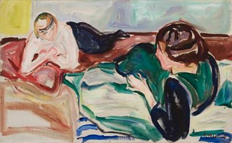Edvard Munch-To Liggende Kvinner / Two Reclining Women-1919