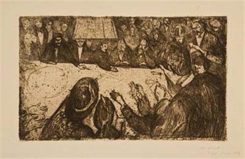 Edvard Munch-Ruletten / The Roulette Table-1906