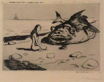 Edvard Munch-Den Store Torsken (The Very Large Cod)-1902