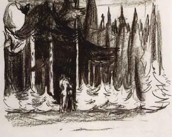 Edvard Munch-Mot Skogen / Towards the Forest (Woll nr. 359)-1909