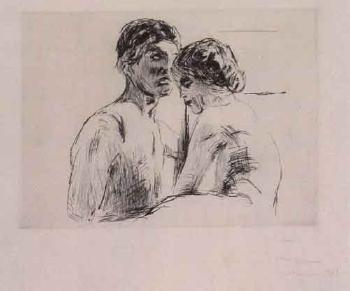 Edvard Munch-To Mennesker / Two People-1914