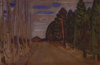Edvard Munch-Alle (Avenue - possibly from Nordstrand)-1901