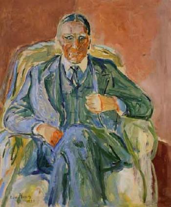 Edvard Munch-Portrett av Arkitekt Henrik Bull / Portrait of the Architect Henrik Bill-1939